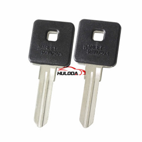 Harley motor key shell with left blade with black colour
