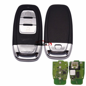 For Audi 3 button keyless remote key with 315mhz For Audi A6, A8, Q3,Q5,Q7, NPX F7945AC1500 CMK008 05 Tn617381 only your remote key is like this, all remote key can use