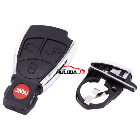 3+1 Buttons Remote Auto Smart Key Case Shell For Mercedes Benz B C E ML S CLK CL GL W211 Chrome Style With Battery Holder