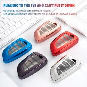 Soft TPU Car Key Fob Full Cover Case Bag Skin Shell Holder for BMW X5 F15 X6 F16 G30 7 Series G11 X1 F48 F39 Smart Key