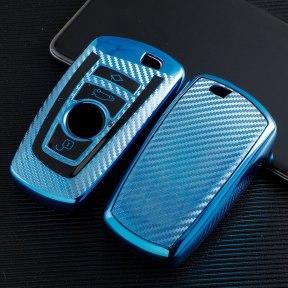 Carbon Fiber TPU Car Key Cover Case Protective Shell Holder for  BMW 520 525 f30 f10 F18 118i 320i 1 3 5 7 Series X3 X4 M3 M4 M5