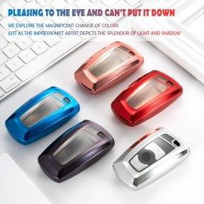 TPU Car Key Fob Case Full Cover Bag Skin Shell Holder for BMW 1 2 3 4 5 Series X3 X4 M3 M4 M5 520 525 F30 F10 F18 118i 320i