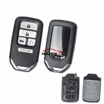 For Honda 4+1 Buttons  Smart Car Remote  Key Shell  used  for Honda Fit Odessey City Jazz XRV Venzel HRV CRV Accord Insert Key Case