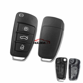 For Audi A6 3 button Remote Key blank without logo