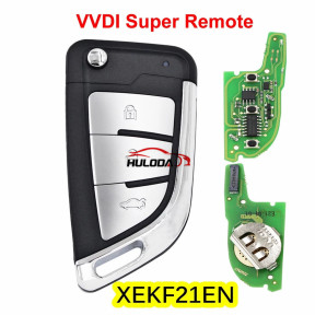 Xhorse XEKF21EN VVDI XE series Super Remote with XT27A XT27A66 Chip Work for VVDI2 /VVDI MINI Key Tool/VVDI Key Tool Max