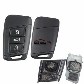 keyless original VW 3 button remote key  434mhz with MQB49 chip Continental: A2C16971008 3V0.959.752.G