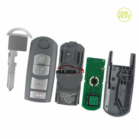 For Mazda 4 button keyless remote key with 315mhz with ID49 chip FCCID:WAZSKE13D01 P/N:662F-SKE13D01 SUV SKE13D-01 FSK