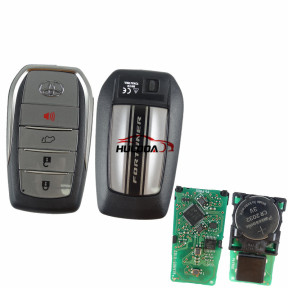 For Toyota Fortuner original 3+1 button remote key with 434mhz with AES 4A chip
