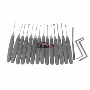The latest plastic handle Kaba King lockpick(14+3) pes set