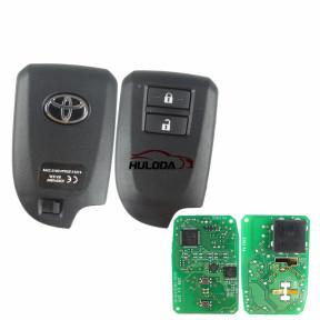 For Toyota original Yaris/VIOS 2 button remot key with 8A 433mhz PCB NO.:61E381-0010 FCC ID:BS1EW Year:2015-2017
