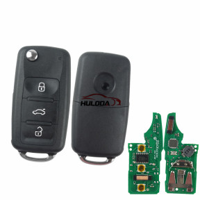 For VW MQB keyless megamos AES48 3 button with 433.92mhz KYDZ