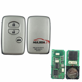 original for Toyota 3 button smart remote key with 314.3mhz 4D+DST80 chip,PCB board number 3370#