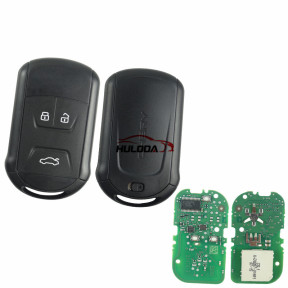 original for chery 3 button smart  remote key with 7953chip with 433mhz