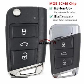 Newest MQB Car Keyless Smart Remote Key 434Mhz 5C  chip for VW Golf 7 MK7 Jetta Polo Passat B8 Magotan Superb Kodiaq Octavia