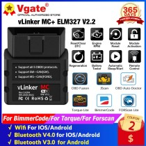 Vgate vLinker MC+ ELM327 V2.2 WIFI OBD2 Scanner Bluetooth-Compatible ICAR PRO 4.0 ELM 327 For Android/IOS car Diagnostic Tools