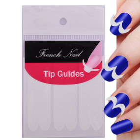 French Manicure Smile Tip Guides DIY Nail Art Stickers