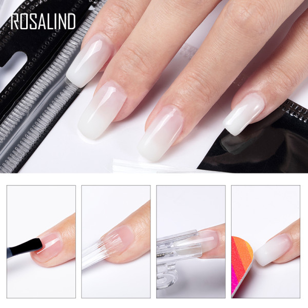 Rosalind Fiber Glass Nails Extenstion 10/20Pcs/Lot