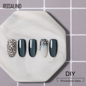 Rosalind 5ML 2 in 1 Rhinestone Nail Gel Top Coat Glue