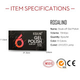 Rosalind 15ML Glitter Neon Series Gel Nail Gel Set