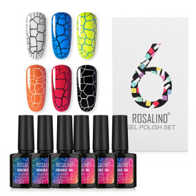 Rosalind 10ML Crackle Nail Gel Set