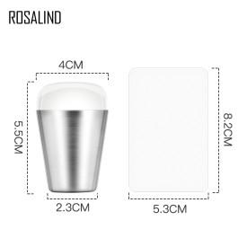Rosalind 2Pcs Jelly Clear Nail Stamper Scraper