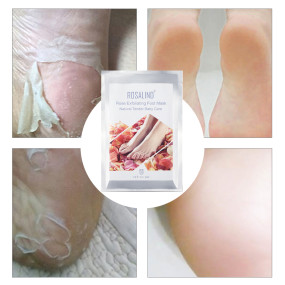 Rosalind 2 Pack Rose Exfoliating Foot Mask
