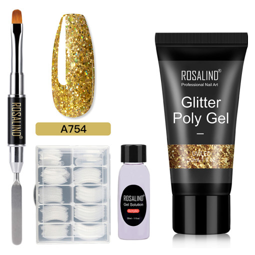 Rosalind 30ML Glitter Gold Poly Gel