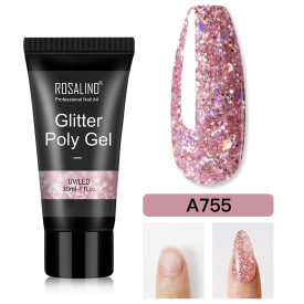 Rosalind 30ML Glitter Pink Poly Gel