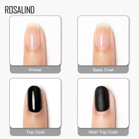 Rosalind 10ML 4Pcs/Kit Gloss Top+Base Coat+Primer+Matt Top