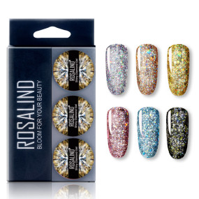 Rosalind 5ML (6PCS/LOT) Shiny Diamond Gel Set