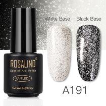 Rosind 7ml White Silver Gel Nail Polish