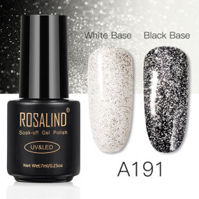 Rosind 7ml White Silver Gel Nail Polish