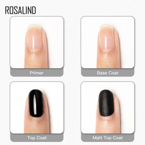 Rosalind 15ML Primer&Base&Top&Matt Coat 4Pcs/Set