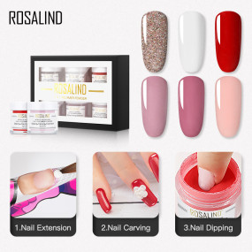 Rosalind 10g 3 IN 1 Dipping&Acrylic&Entension Powder Kit