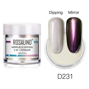 Rosalind 10g 2 in 1 Dipping Mirror Powder