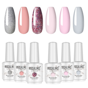 Rosalind 15ml Glitter Pink Series Gel Nail