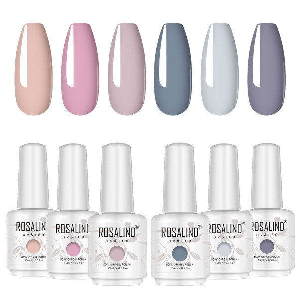 Rosalind 15ML Nude Gray Sereis Gel Polish