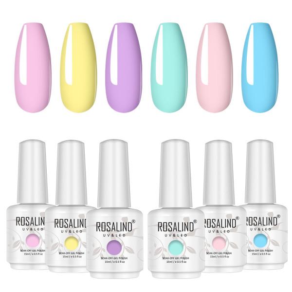 Rosalind 15ML Pastel Series Gel Nail Set