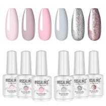 Rosalind 15ml Pink Shiny Platinum UV LED Gel Polish