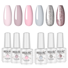 Rosalind 15ml Pink Shiny Platinum UV LED Gel Polish