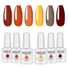 Rosalind 15ml Fall Season Daisy Yellow Coffee Nail Polish Gel Set