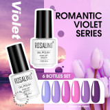 Copy Rosalind 7ML 6PCS Lavender Purple Nail Gel Kits