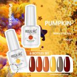 Rosalind 15ml Fall Season Daisy Yellow Coffee Nail Polish Gel Set