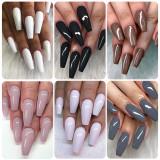 Copy Rosalind 7ML 6PCS Dark Gray Nail Gel Kits