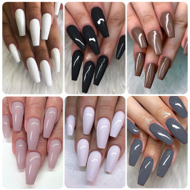 Copy Rosalind 7ML 6PCS Dark Gray Nail Gel Kits