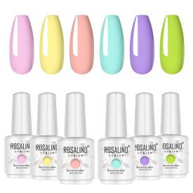 Rosalind 15ML Summer Macaron Series Gel Nail Set