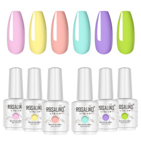 Rosalind 15ML Summer Macaron Series Gel Nail Set
