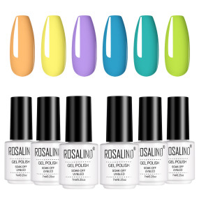 Rosalind (6PCS/LOT) Pure Yound Color Gel Nail Polish Gift Box 7ml