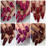 Copy Rosalind 7ML 6PCS Burgundy Red Nail Gel Kits