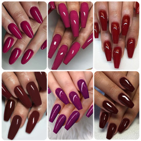 Copy Rosalind 7ML 6PCS Burgundy Red Nail Gel Kits